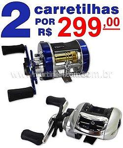2 Carretilhas Marine Sports por apenas R$ 299,00 - manivela direita