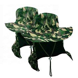 2 Chapéu com proteção camuflado