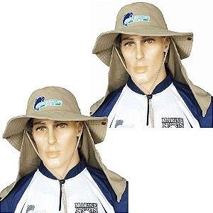 2 Chapéu com proteção caqui