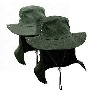 2 Chapéu com proteção verde