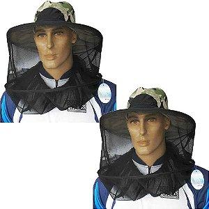 2 Chapéu de pesca com tela mosquiteiro p/ pesca e camping