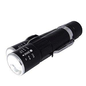 2 Lanterna Mini Usb Bnz-et-12003 Led T6 c/ Zoom