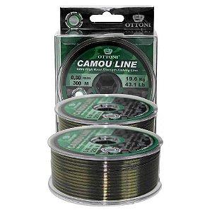 2 Linha Monofilamento Camou Line 0,30mm 300m