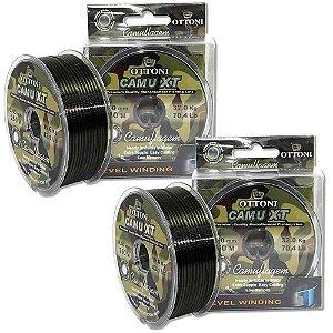 2 Linha monofilamento Camu XT 0,50mm - 150m - 70,4 lbs