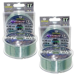 2 Linha Monofilamento Platinum XT BOX 0,35mm 15,53kg 270m
