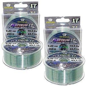 2 Linha Monofilamento Platinum XT BOX 0,40mm 19,52kg 250m