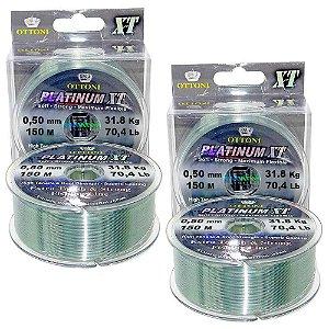 2 Linha Monofilamento Platinum XT BOX 0,50mm 31,89kg 150m