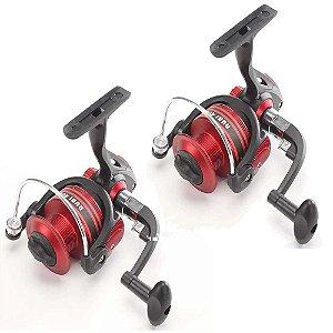 2 Molinete Pesca Brasil Rubi Rb2000 Com 3 Rolamentos