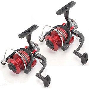 2 Molinete Pesca Brasil Rubi Rb4000 Com 3 Rolamentos
