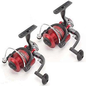 2 Molinete Pesca Brasil Rubi Rb6000 Com 3 Rolamentos