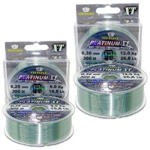 2x Linha Monof Platinum XT BOX 0,25mm 300m + 2x 0,30mm 300m