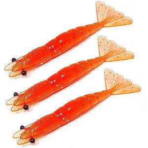 3 Isca artificial Camarão JET Shrimp Nihon 8,7cm - 10 SALMAO