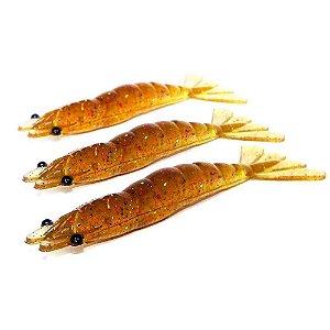 3 Isca artificial Camarão JET Shrimp Nihon 8,7cm MAGIC PUMP