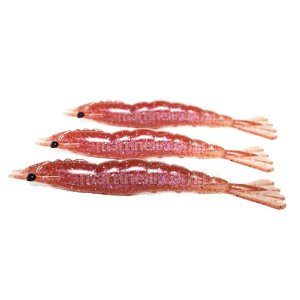 3 Isca artificial Camarão JET Shrimp Nihon 8,7cm POLAQUINHO