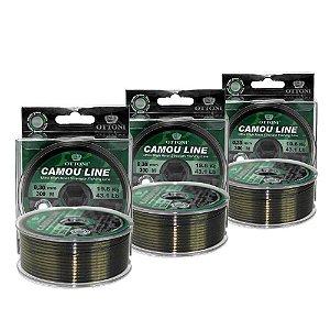 3 Linha Monofilamento Camou Line 0,30mm 300m