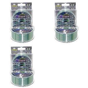 3 Linha Monofilamento Platinum XT BOX 0,35mm 15,53kg 270m