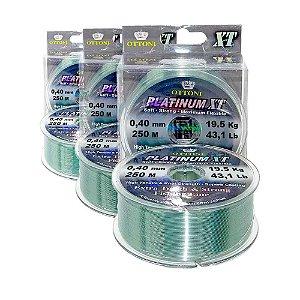 3 Linha Monofilamento Platinum XT BOX 0,40mm 19,52kg 250m