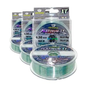 3 Linha Monofilamento Platinum XT BOX 0,50mm 31,89kg 150m