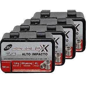 400 Chumbinho CBC Calibre 6.0mm Six Expansivo Double-X