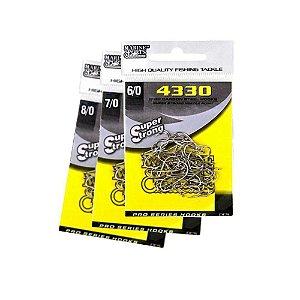 40 Anzol Marine Sports 4330 C/ Farpas 6/0,7/0 E 8/0