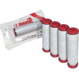 4 Elastano p/ fixar iscas (elastricot) c/ 110m cada