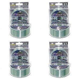 4 Linha Monofilamento Platinum XT BOX 0,60mm 43,48kg 100m