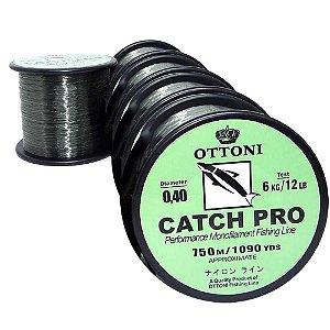 4 x Linha monofilamento Catch Pro - 0,40mm 750m