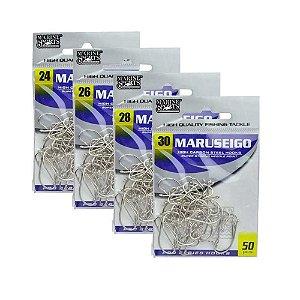 50 Anzol Marine Sports Maruseigo Nickel Nº 24,26,28,30