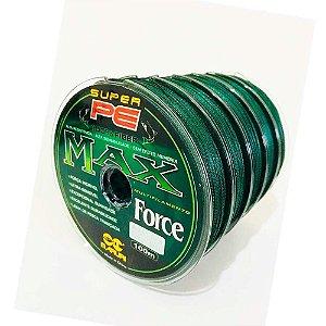 5x Linha multifilamento Maruri Max Force 0,60mm 70lb 100m