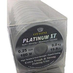 600 Linha Monofilamento Platinum XT - 3 carreteis de 0,25mm e 3 carretéis de 0,30m