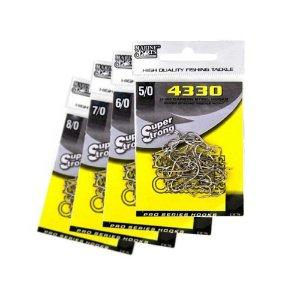 60 Anzol Marine Sports 4330 c/ farpas Nº 5/0,6/0,7/0 e 8/0