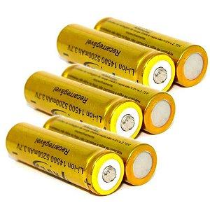 6X Bateria Recarregável Li-ion 14500 5200mah 3,7v - Unidade