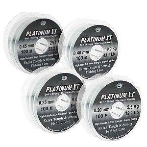 800m Linha Monofilamento Platinum XT (0,20/0,25/0,40/0,45mm)