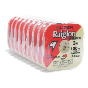 8 Carretéis Linha Mono Super Raiglon 0,285mm - 100m cada