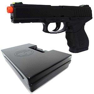 Airsoft Pistola Wingun W24/7 Rossi 6mm 180fps Spring... + Maleta Case Airsoft Pistolas - Rossi Preta...