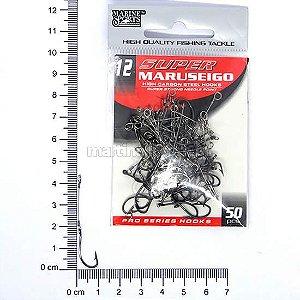 Anzol encastoado Super Maruseigo black 12 com 50 peças.