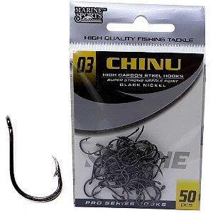 Anzol Marine Sports Chinu Black nickel n. 03 com 50