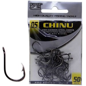 Anzol Marine Sports Chinu Black nickel n. 05 com 50