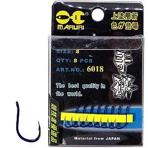 Anzol Maruri 6018 08 c/ 8 un Super Resistentes e afiados