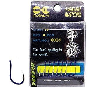 Anzol Maruri 6018 12 c/ 8 un Super resistentes e afiados