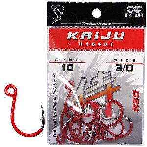 Anzol Maruri Kaiju H16401 Inline Red 3/0 c/ 10 un.