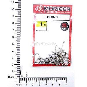 Anzol Morigen Kantsuki Chinu 04 Nickel 0428 c/ 25 un.