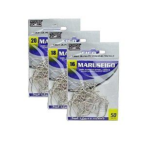 Anzol MS Maruseigo Nickel - 16 com 50/18 com 50/20 com 25