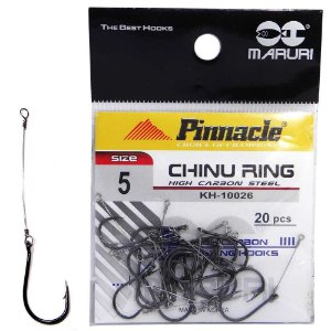 Anzol Pinnacle Encastoado Chinu Ring N.5 com 20 unidades