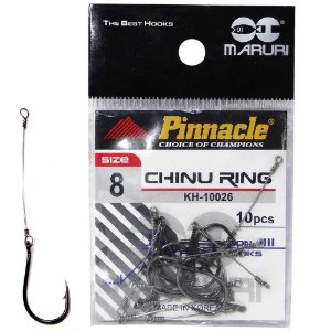 Anzol Pinnacle Encastoado Chinu Ring N.8 com 10 unidades