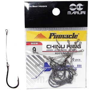 Anzol Pinnacle Encastoado Chinu Ring N.9 com 10 unidades