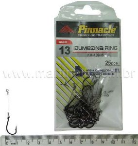 Anzol Pinnacle Encastoado Idumezina ring N.13 com 25 unidades
