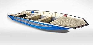 Barco Black Bass 5.5 Borda Flutuante Extra Alta p/ Motor de 15 a 40 Hp (pilotagem na popa) Casco a partir de R$ 8.990,00.
