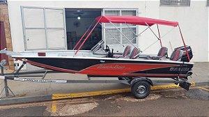 Barco Black Bass 5.5 Tour (com comando) Indicação motor 25 a 40HP - Casco a partir de R$ 12.380,00