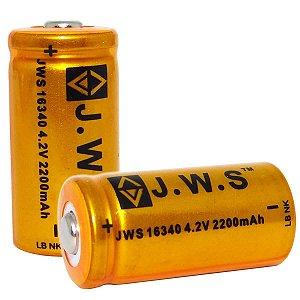 Bateria Recarregável 16340 JWS 4.2v 2200mah